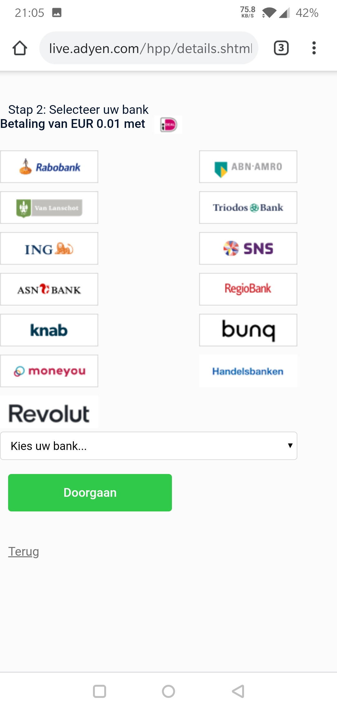Bux Zero bankrekeningen