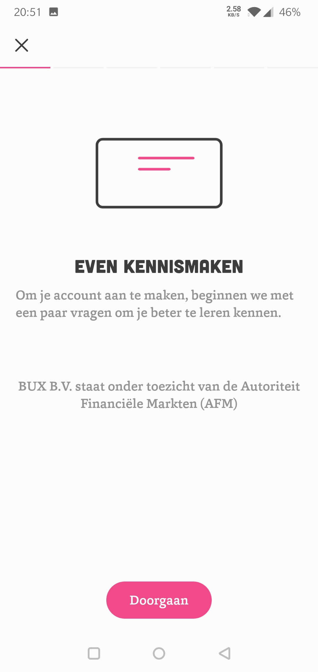 Bux Zero even kennismaken