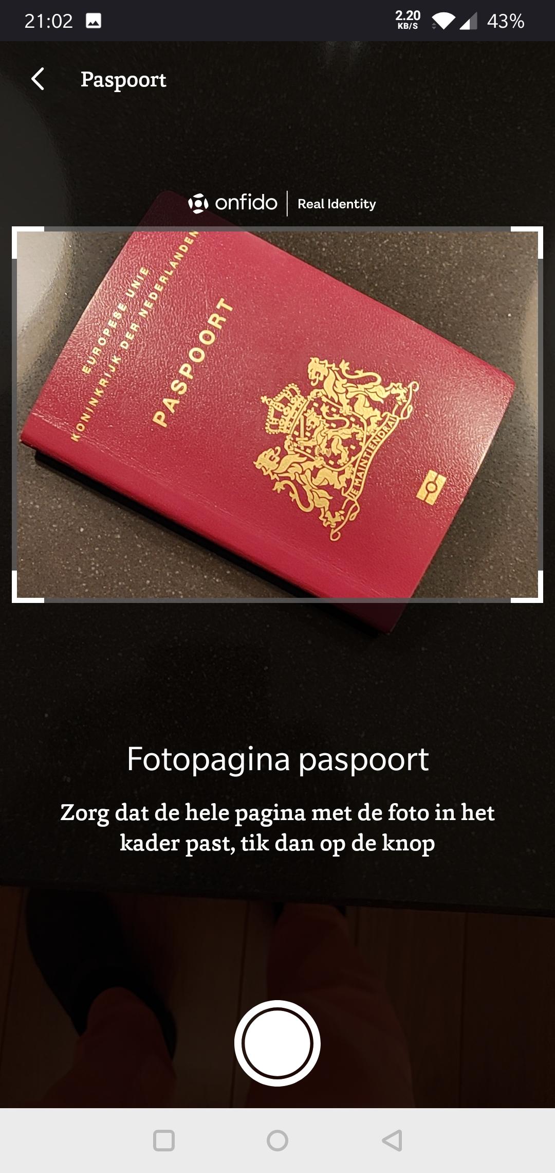 Bux Zero fotopagina paspoort