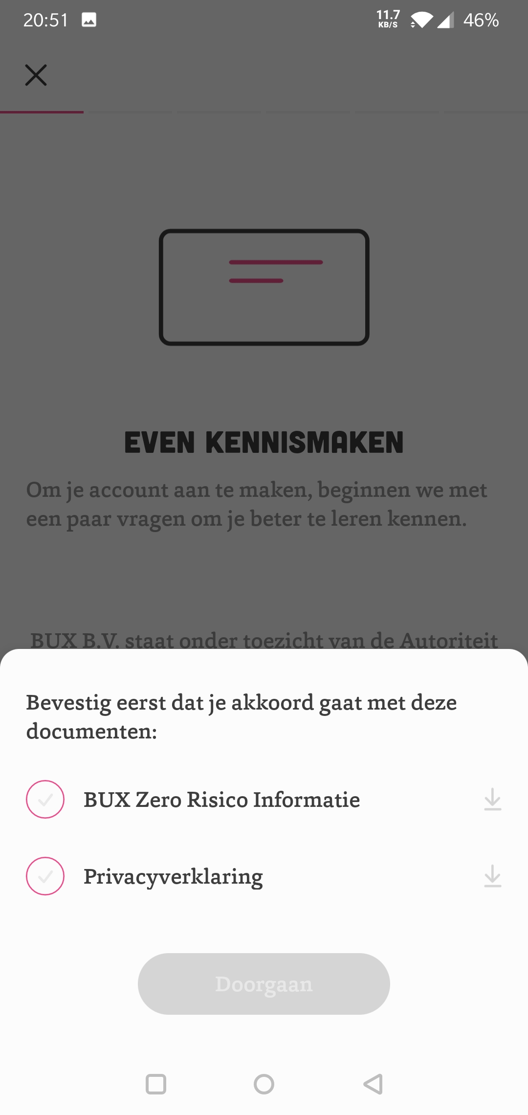 Bux Zero risico informatie en privacyverklaring